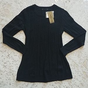 Peruvian Connection Charlotte Pullover Black NWT